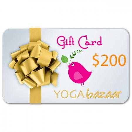 Yoga Bazaar Gift Card $200