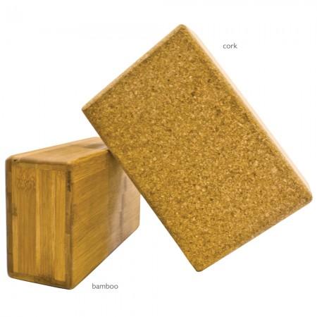 Cork and Bamboo Blocks at Yoga Bazaar