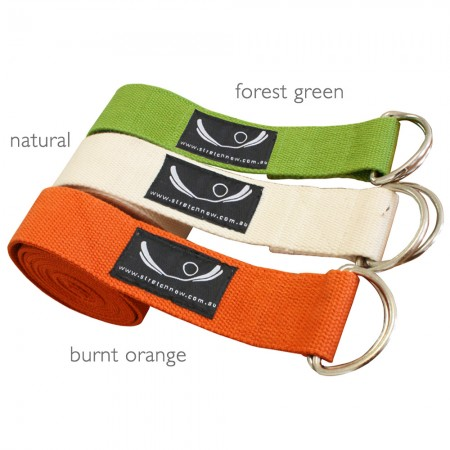 Organic Cotton Yoga Strap at Yoga Bazaar