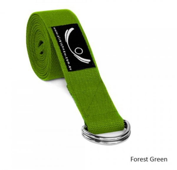 yoga-strap-forest-green