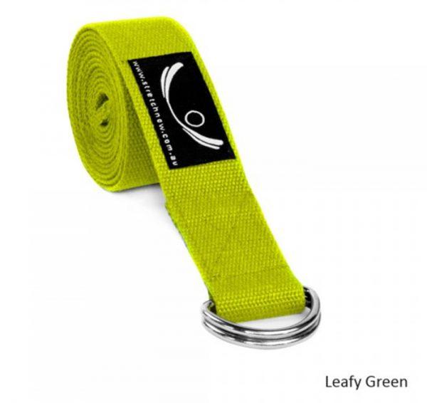 yoga-strap-leafy-green