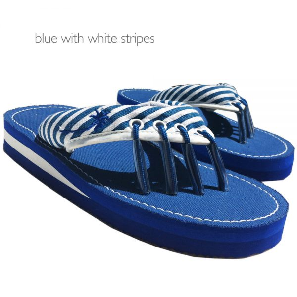 Yoga Sandals Blue and White at Yoga Bazaar