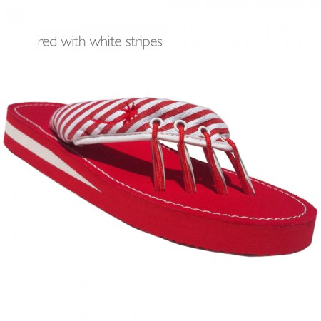 Yoga Sandals Red and White at Yoga Bazaar