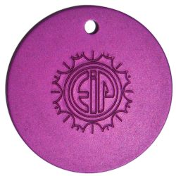 Purple Tesla Plate Pendant at Yoga Bazaar