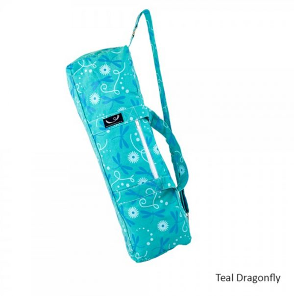 yoga-mat-bag-teal-dragonfly