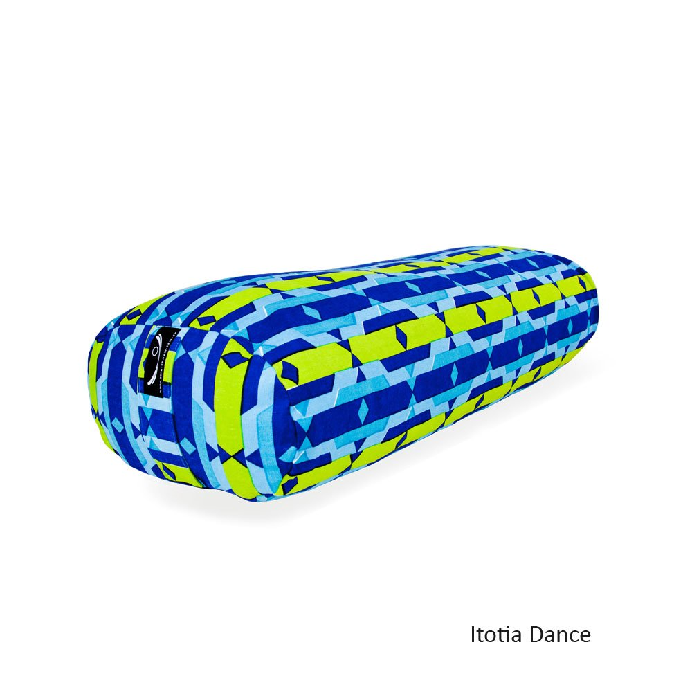 Oval Patterned Organic Cotton Yoga Bolster